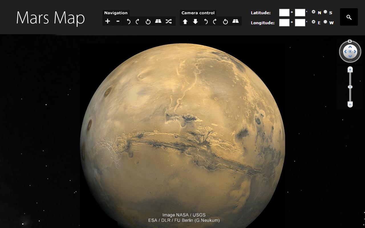 Mars 3d map 3d site